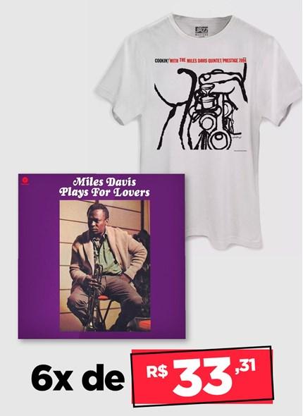 LP IMPORTADO Miles Davis Plays For Lovers + Camiseta Grátis