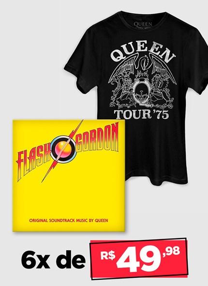 LP IMPORTADO Queen Flash Gordon + Camiseta