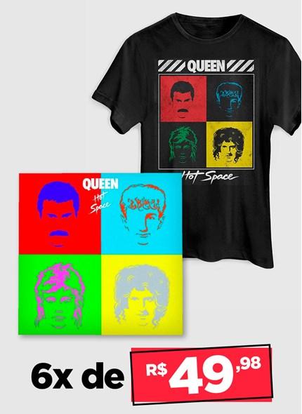 LP IMPORTADO Queen Hot Space + Camiseta