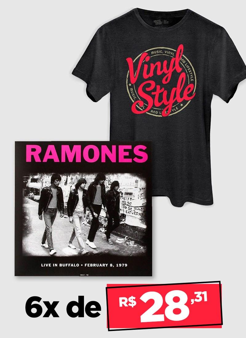 LP IMPORTADO Ramones Live In Buffalo February 8 1979 + Camiseta Grátis