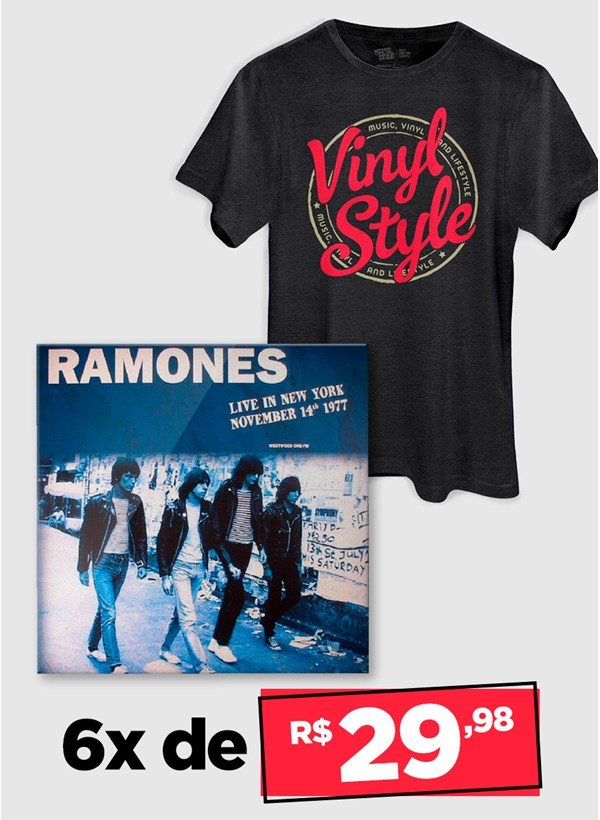 LP IMPORTADO Ramones Live In New York November 14TH 1977 + Camiseta Grátis