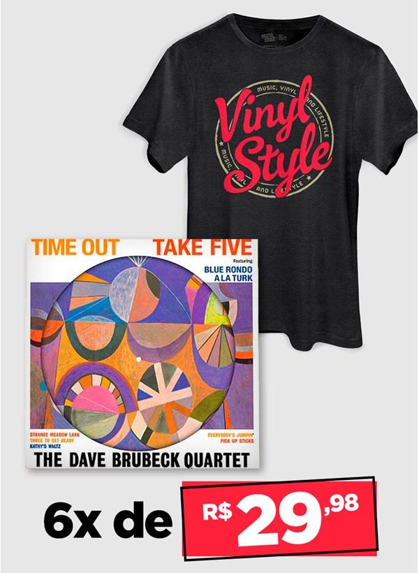 LP IMPORTADO The Dave Brubeck Quartet Time Out - PICTURE + Camiseta Grátis