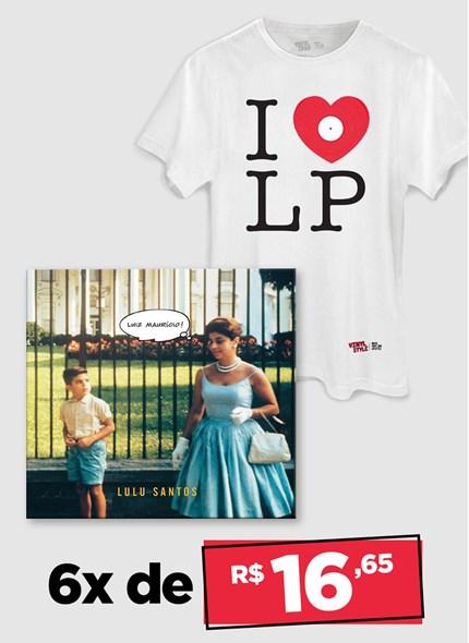 LP Lulu Santos - Luiz Maurício + Camiseta Grátis