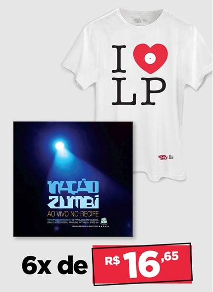 LP Nação Zumbi Ao Vivo No Recife + Camiseta Grátis
