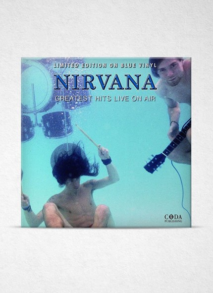 LP Nirvana Greatest Hits Live On Air Blue Vinyl