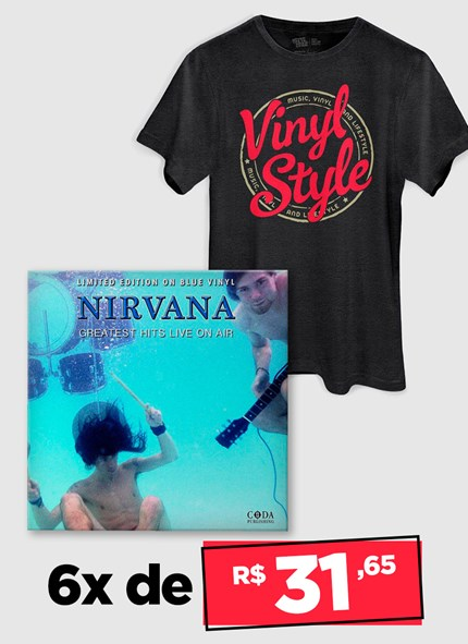 LP Nirvana Greatest Hits Live On Air + Camiseta Grátis