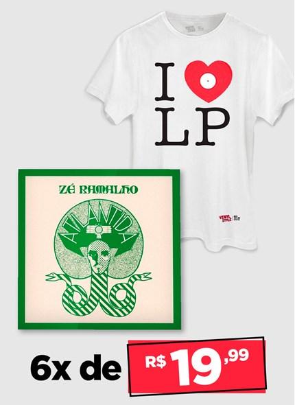 LP Zé Ramalho Atlântida + Camiseta Grátis