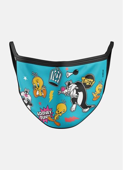 Máscara Looney Tunes Frajola e Piu-Piu Ícones