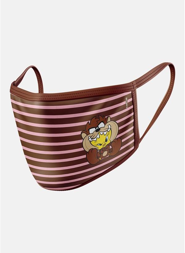 Máscara Looney Tunes Piu-Piu Roupinha Taz