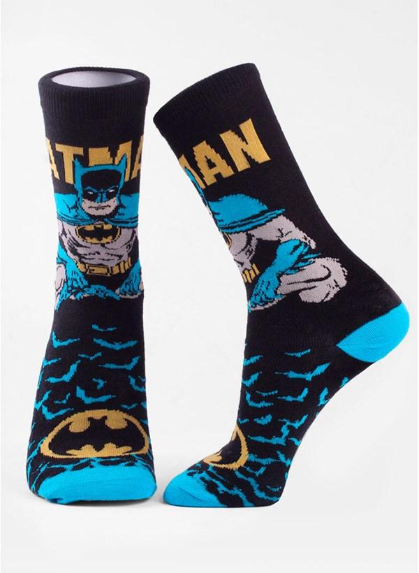 Meia Cano Alto Batman