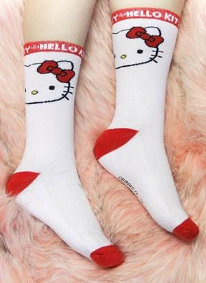Meia Cano Alto Hello Kitty Sporty