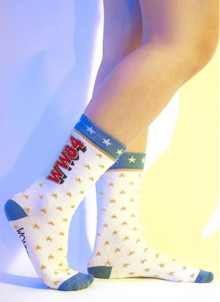 Meia Cano Alto Mulher Maravilha WW84 Estrelas