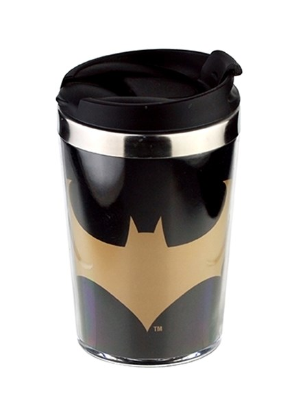 Mini Copo Térmico Batman Gold Logo