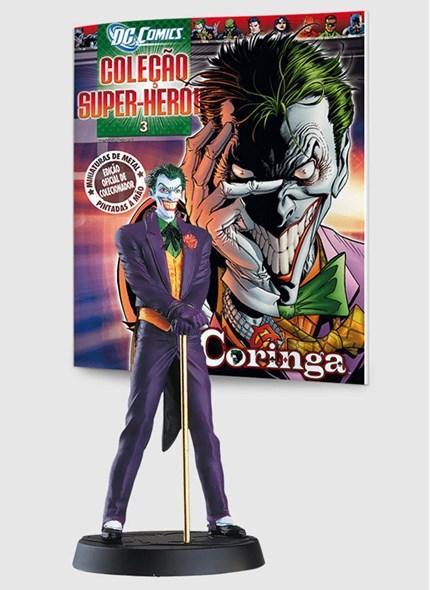 Miniatura Boneco Coringa ed.3 + Revista