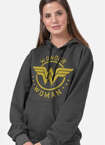 Moletom Mulher Maravilha Golden Logo