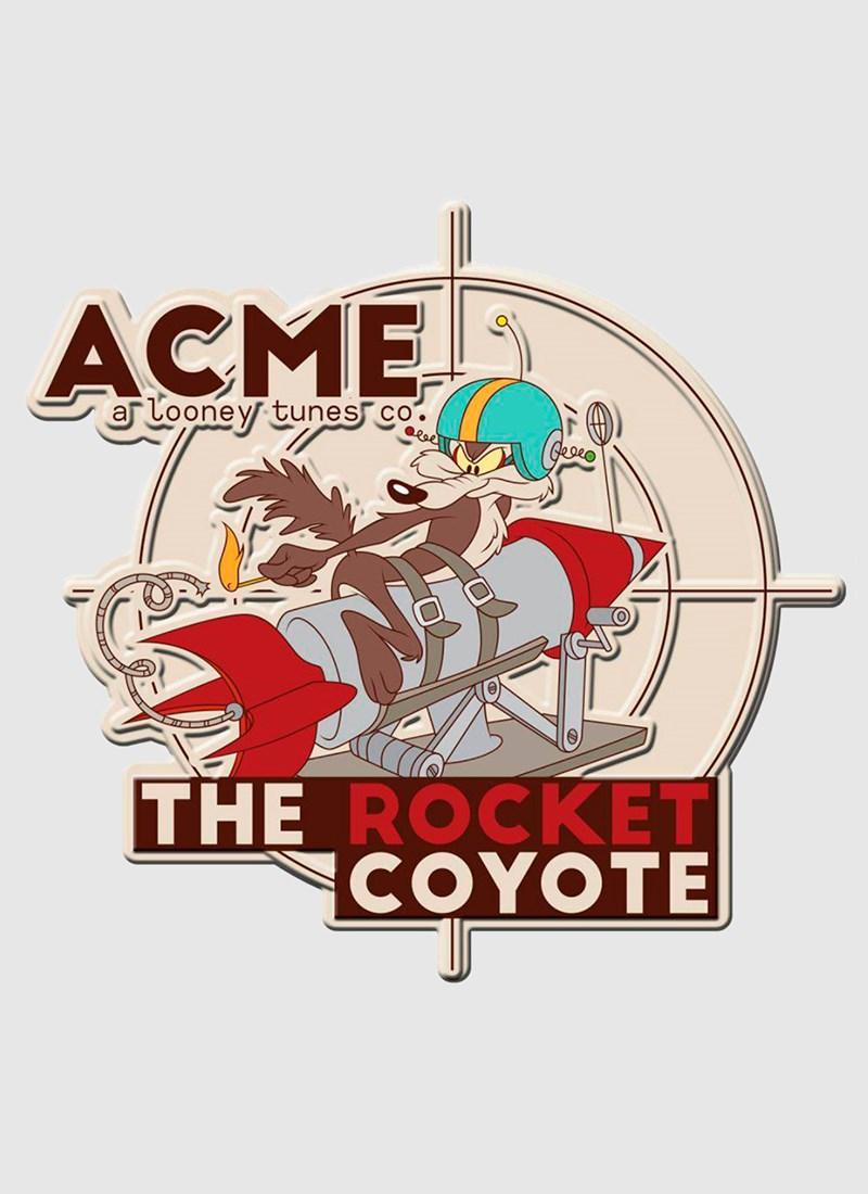 Placa de Parede Recortada Looney Tunes Acme Coyote