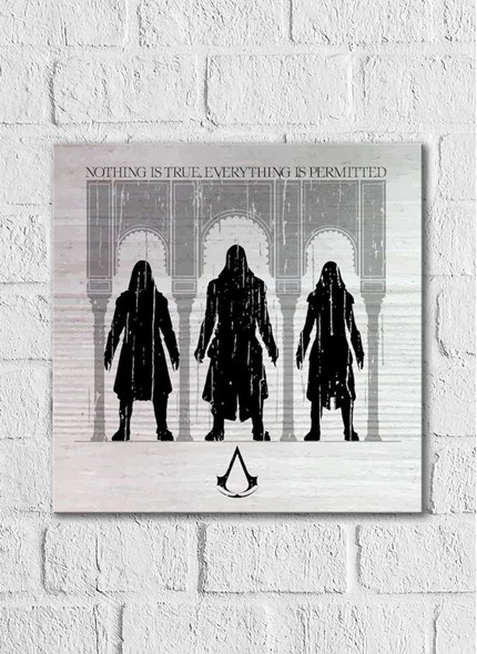 Quadro Assassin's Creed Filme Assassinos