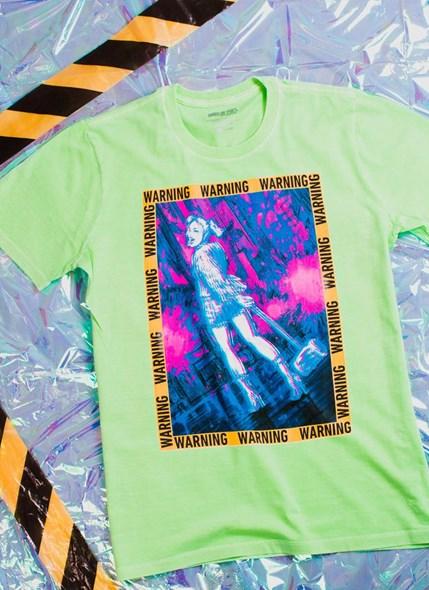 T-shirt Birds Of Prey Harley Quinn Warning - Aves de Rapina