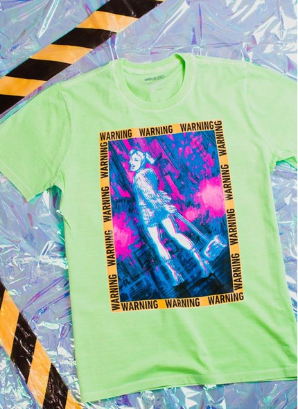 T-shirt Birds Of Prey Harley Quinn Warning - Aves de Rapina