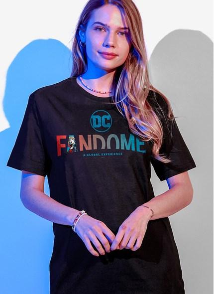 T-shirt Fandome Logo Harley Quinn