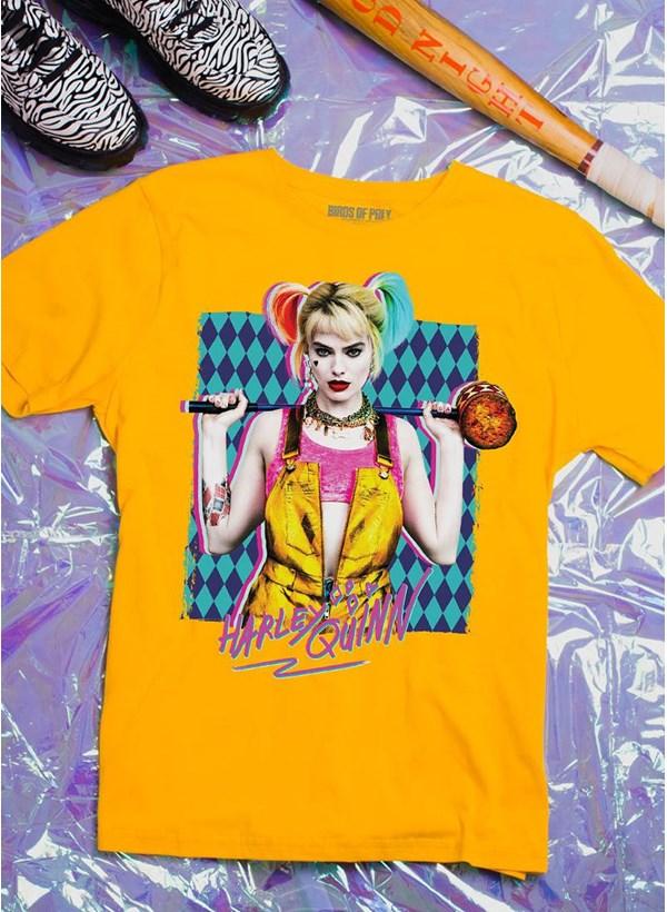 T-Shirt Feminina Birds of Prey Harley Quinn Foto - Aves de Rapina