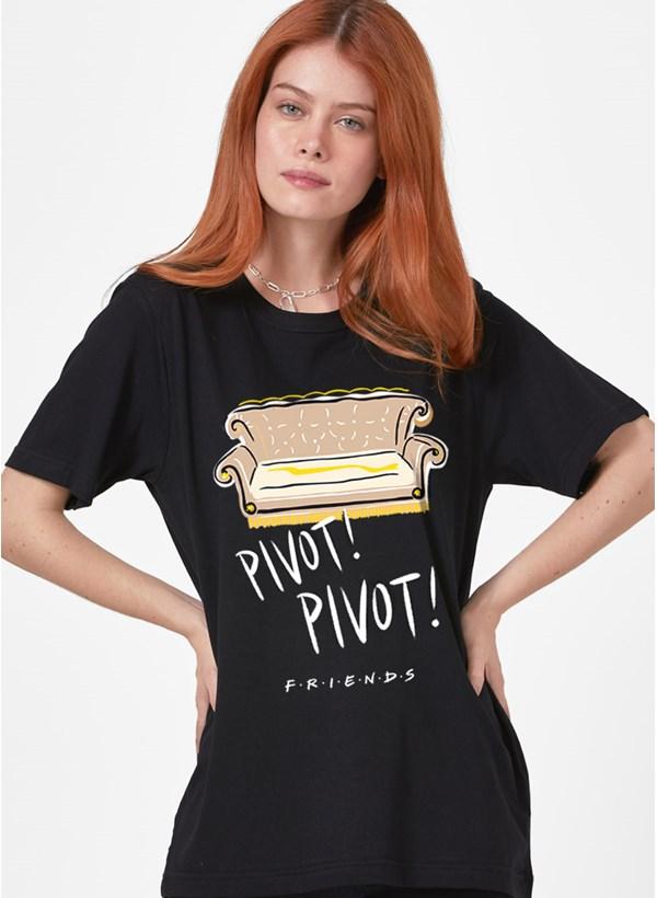 T-Shirt Feminina Friends PIVOT! PIVOT!