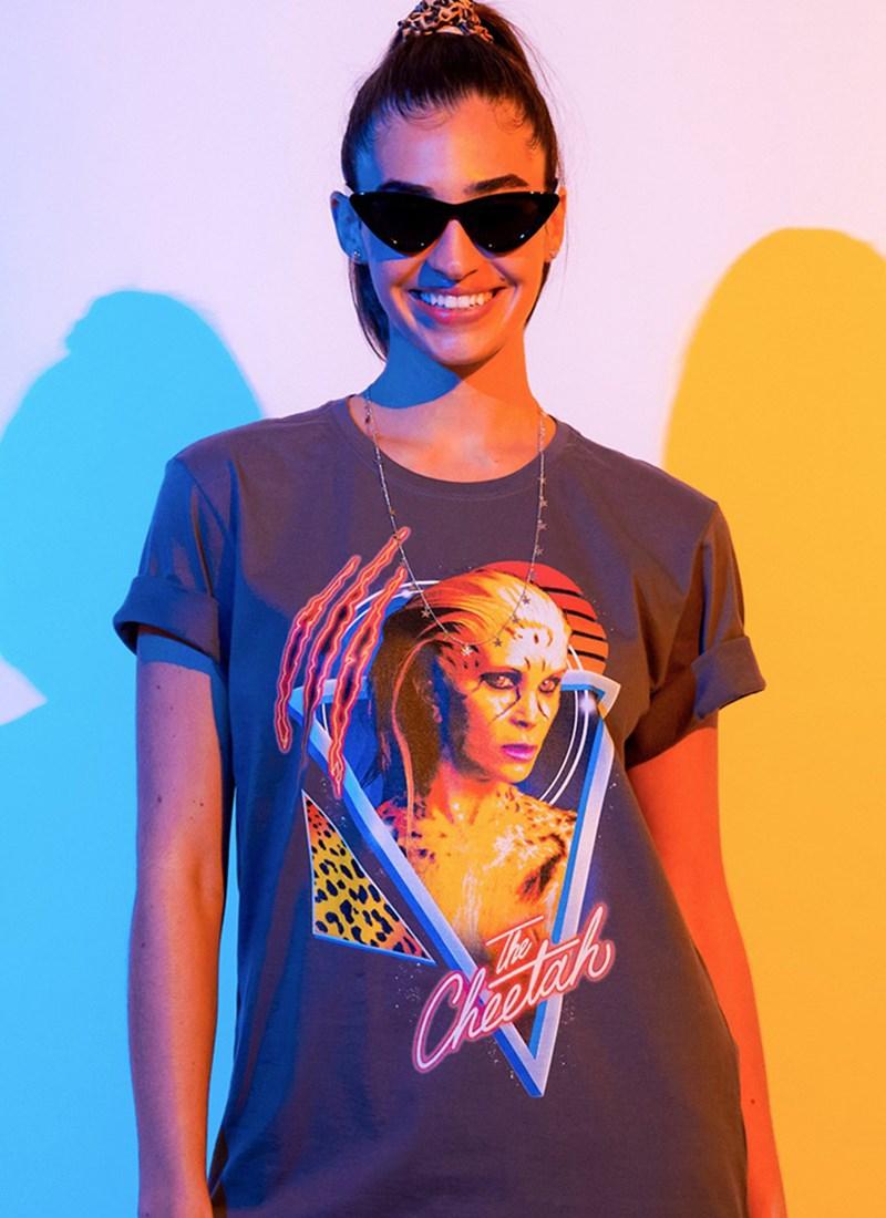 T-shirt Mulher Maravilha 1984 Cheetah Foto