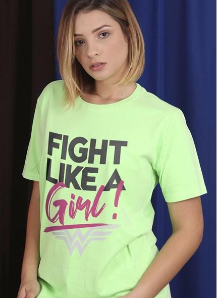 T-Shirt Mulher Maravilha Fight Like A Girl