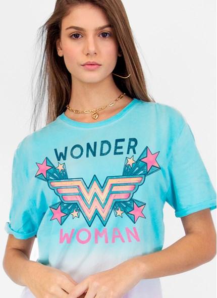 T-shirt Mulher Maravilha Logo Star