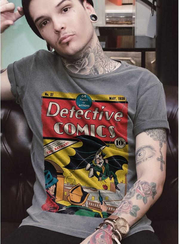 T-Shirt Premium Batman 80 Anos Detective Comics