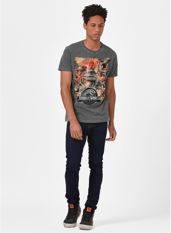 T-shirt Premium Jurassic World Pôster
