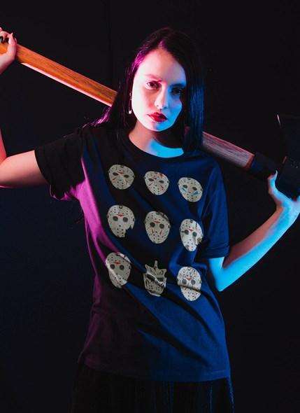T-shirt Sexta-Feira 13 Jason Máscaras