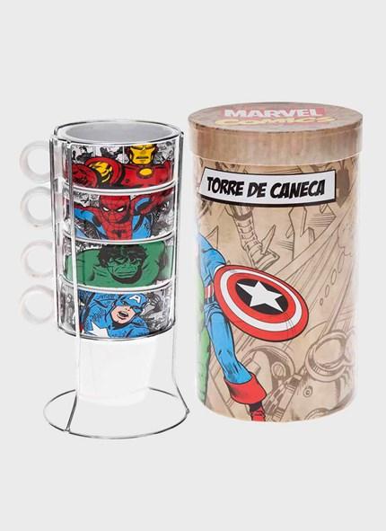 Torre de Canecas Marvel HQ Heróis